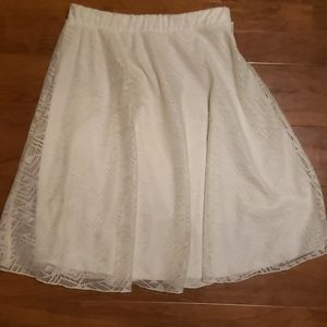 Pretty bella D white skirt